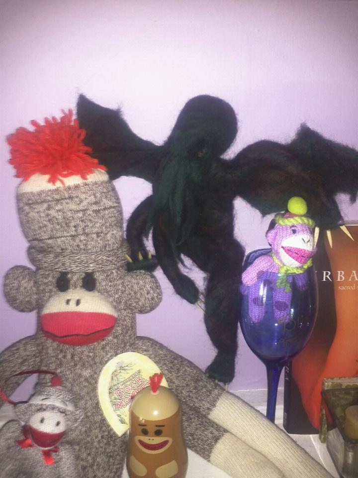 Cthulhu's New Sock Monkey Family