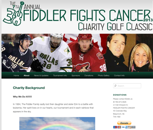 Fiddler Fights Cancer WordPress Website by SMac To The Rescue