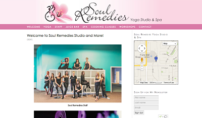 WordPress website created for Tracy Persson – Soul Remedies