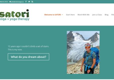 WordPress website redesign for Satori Yoga & Yoga Therapy