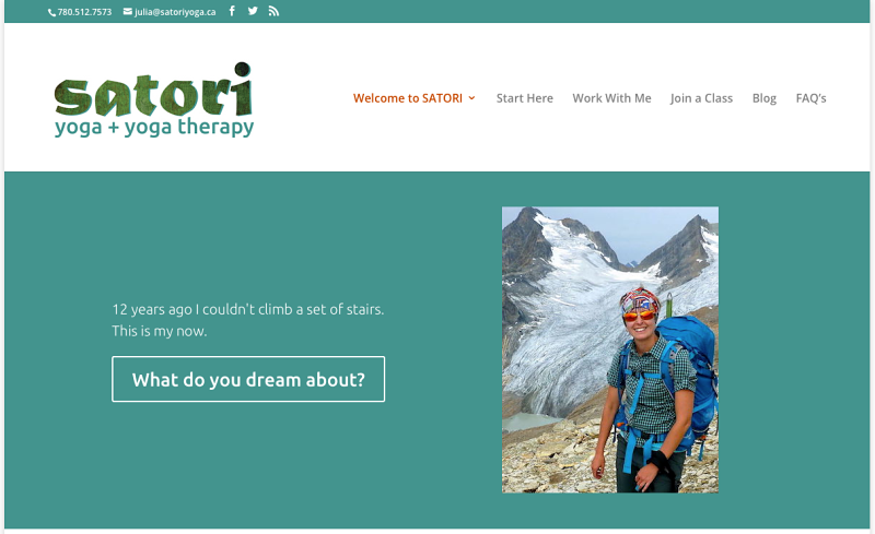 Fun Site Redesign for Satori Yoga & Yoga Therapy