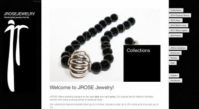 WordPress website created for JRose Jewelry