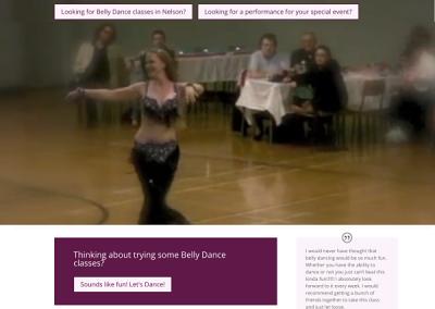 WordPress website created for Kesavah BellyDance